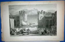 "Buy ORIGINAL STEEL ENGRAVING DRAWN BY SAMUEL PROUT ENGRAVED BY J.H. KERNOT,""CASTLE"""