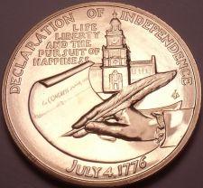 Buy Massive 1976 Gem Unc A-R-B Medallion~Jefferson~Declaration Of Independence~FR/SH