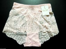 Buy $34 Sale X39 Rene Rofe Sheer Lycra Floral Lace Controlwear Brief Panty Pnk S New