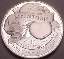 Buy Silver Proof Canada 1996 Mcintosh Apple Dollar~Only 133,779 Minted~Free Shipping