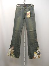 Buy Pristine Embellished Boot Cut Legs Cotton Stonewashed 28X33 Women's Jeans Size S