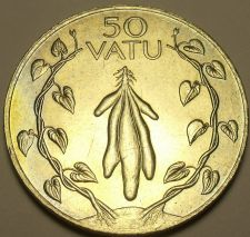 Buy Large Unc Vanuatu 1983 F.A.O. 50 Vatu~Tubers With Leafy Vines~Free Shipping