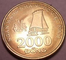 Buy Gem Unc Vietnam 2003 2,000 Dong~Highland Stilt House in Tay Nguyen~Free Shipping