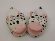 Buy SPOTTED COW Slippers SIZE S M L Girls Boys Adults Kids Children House Shoes