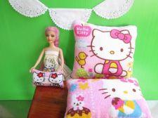 Buy Mickey Hello Kitty Stuffed Pillows Lot 3 Plush Cushions For Child Angel,Bjd Doll