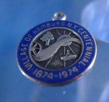 Buy Village of Hamburg NY 1974 Enamel Anniversary / Travel Souvenir Charm