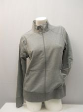 Buy Danskin Women's French Terry Track Jacket Size L Gray Long Sleeves Zipper Front
