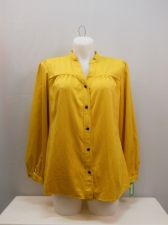 Buy Charter Club Saffron Long Sleeve Collar Neck Button Down Shirt Size 16-18W