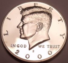 Buy 2000-S GEM PROOF KENNEDY HALF~FREE SHIPPING~ US COINS~