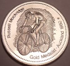 Buy Large Gem Unc Russell Mockridge Gold Medalist Medallion~Australia's Hero~Fr/Ship