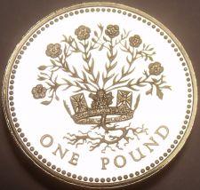 Buy Rare Proof Great Britain 1991 Pound~10,000 Minted~DECUS ET TUTAMEN~Free Shipping