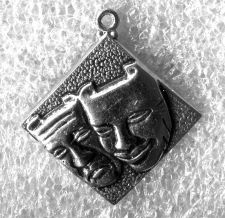 Buy Vintage Charm : Theatre Faces Agony and Ecstasy G (Arrow) Sterling