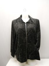 Buy PLUS SIZE 3X Women's Track Jacket STYLE&CO. Animal Print Long Sleeve Zip Front