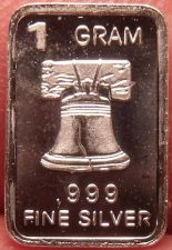 Buy Gem Proof .999 1 Gram Silver Bullion Bar~Liberty Bell~Free Shipping