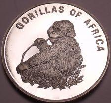 Buy Silver Proof Uganda 2003 1,000 Shillings~Gorilla Eating~Fantastic~Free Shipping