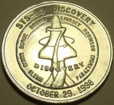 Buy 1998 UNC SPACE SHUTTLE DISCOVERY MISSION MEDALLION~GLENN FINAL FLIGHT~