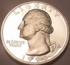 Buy United States 1990-S Proof Washington Quarter~We Have Proof Coins~Free Shipping