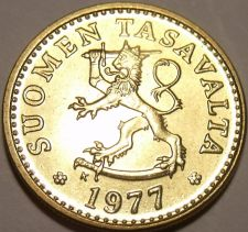 Buy Gem Unc Finland 1977-K 10 Pennia~Awesome Lion~Free Shipping~