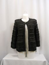 Buy JM Collection Women's Jacket Size M Black 1 Button Closure 3/4 Sleeves Career