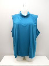 Buy PLUS SIZE 4X Womens Knit Top SALON STUDIO Mock Turtle Neck Solid Teal Sleeveless