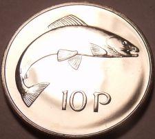 Buy Large Rare Proof Ireland 1971 10 Pence~1st Year~Salmon~50,000 Minted~Free Ship