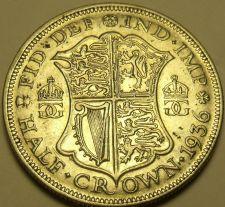 Buy Silver Great Britain 1936 Half Crown~King George V~Quartered Shield~Free Ship