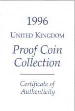 Buy 1996 Great Britain 9 Coin 2 Page C.O.A. Document Set~Free Shipping