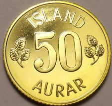 Buy Rare Proof Iceland 1974 50 Aurar~Only 15,000 Minted~Last Year Ever~Free Shipping