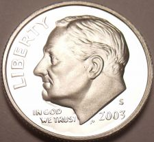Buy 90% SILVER 2003-S CAMEO PROOF ROOSEVELT DIME~FREE SHIP~
