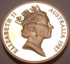 Buy Cameo Proof Australia 1987 Cent~Feather-Tailed Glider~70,000 Minted~Free Ship