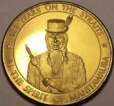 Buy Large 34mm Unc Cheboygan Michigan Centennial Medallion~The Chronicle~Free Ship