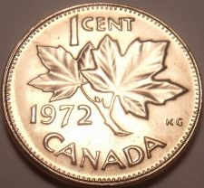 Buy Gem Unc Canada 1972 Maple Leaf Cent~We Have Canadian Coinage~Free Shipping