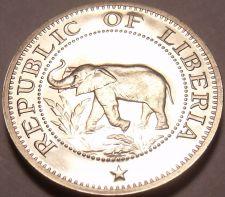 Buy Rare Proof Liberia 1971 5 Cents~Elephant~Ship~Bird~Palm Tree~3,012 Minted~Fr/Shi