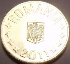 Buy Gem Uncirculated Romania 2011 Ban~We Have Thousands Of Unc Coins~Free Shipping~