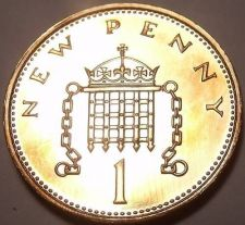 Buy Cameo Proof Great Britain 1984 Penny~Proofs R Best Coins~107K Minted~Free Ship