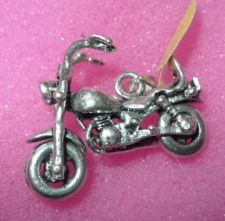 Buy Charm Or Pendant: Sterling 925 Motor Cycle Bike Biker : Moving Wheels