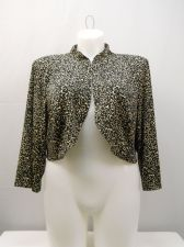 Buy Jessica Howard 3/4 Sleeves Band Collar Crop Shrug Bolero Plus Size 18W