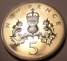 Buy Proof Great Britain 1971 5 New Pence~Upgrade To Proof Coins~Free Shipping