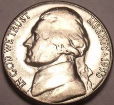 Buy United States Unc 1956-P Jefferson Nickel~Excellent~Free Shipping
