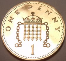 Buy Gem Cameo Proof Great Britain 1986 Penny~Excellent~Free Shipping