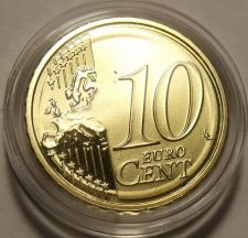 Buy RARE IRELAND 2007 ENCAPSULATED CAMEO PROOF 10 EURO CENTS~5K MINTED~FREE SHIPPING