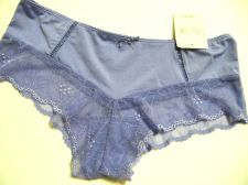 Buy X0135 Rene Rofe NEW Lilac Sheer Mesh Embroidered Lace Microfiber Hipster M PR