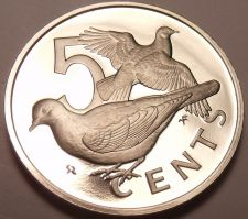 Buy Rare Proof British Virgin Islands 1979 5 Cents~Doves~5,304 Minted~Free Shipping