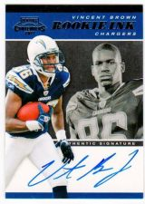 Buy NFL 2011 PLAYOFF CONTENDERS VINCENT BROWN AUTO RC MNT