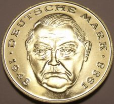 Buy Gem Cameo Proof Germany 1999-D 2 Marks~Ludwig Erhard~Only 70,000 Minted~Free Shi
