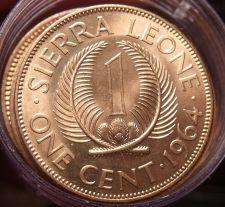 Buy Gem Unc Roll (20 Coins) Sierra Leone 1964 Cents~Sir Milton Margai~1st Year~Fr/Sh
