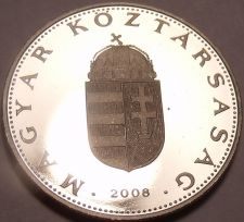 Buy Rare Proof Hungary 2008-BP 10 Forint~Only 4,000 Minted~Minted In Budapest~Fr/Shi