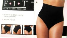 Buy SH20 FIT by Rene Rofe NEW 170951 Black Seamless Light Control High Waist Brief M