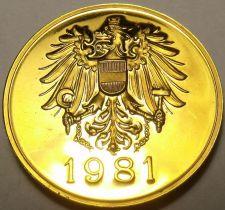 Buy AUSTRIA 1981 PROOF SET MEDALLION~EXCELLENT~FREE SHIP~