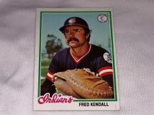 Buy VINTAGE 1977 TOPPS FRED KENDALL INDIANS BASEBALL #426 GD-VG